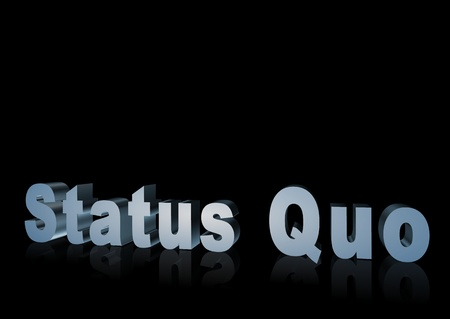 3d text that says status quo