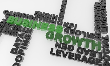 high quality three dimensional text. Great for business presentations and print materials. Stock Photo - 12308055