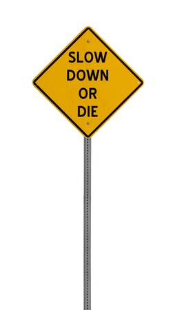 A high quality road sign Imagens