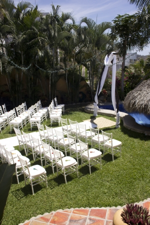 Tropical wedding in Mexico photo