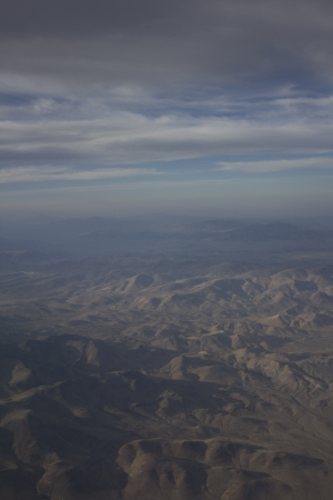 blue sky with some clouds over Nevada mountains photo