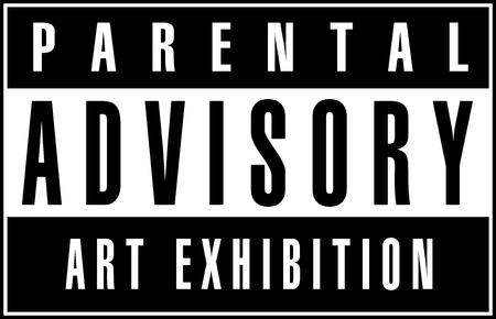 a black and white parental advisory logo. Logo is 100% created by me. 版權商用圖片