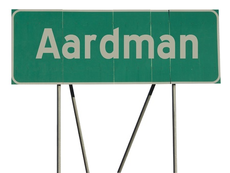 buzz word: Green road sign with a isolated white background.