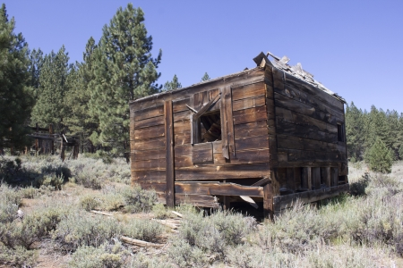 an abandoned western barn in the high sierras photo
