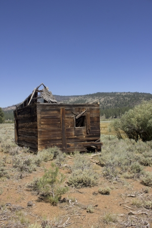 an abandoned western barn in the high sierras Stock Photo - 14569971