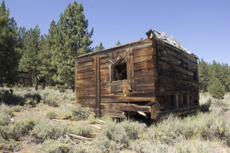 an abandoned western barn in the high sierras Stock Photo - 14569970