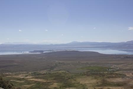 veiw: Mono Lake aerial veiw in the summer