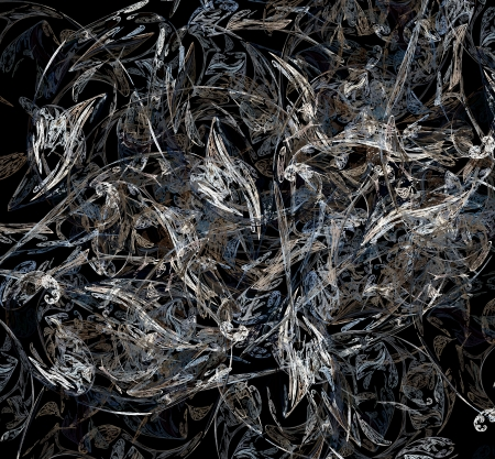 distorted image: abstract fractal on a clean background