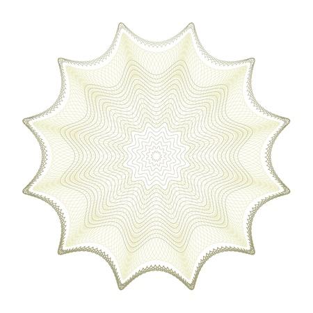 éléments vectoriels guillochés sur un fond blanc