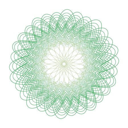 intricacy: guilloche vector elements on a white background Stock Photo