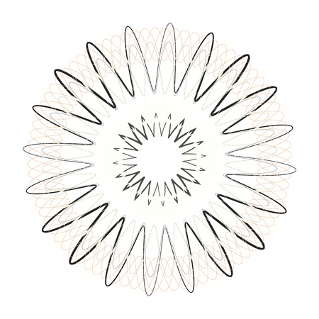 guilloche vector elements on a white background Stock Photo - 16587380