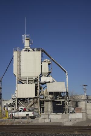a plant that makes concrete or cement