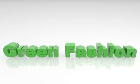 green fashion 3d text isolated on a white background