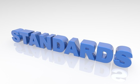Buzzword standards 3d Text on a white background with reflection Stock Photo - 16976403