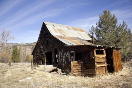 een oude western paardenstal stal