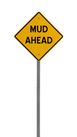 A yellow road warning sign isolated on white. Includes clipping path. 版權商用圖片 - 17924617