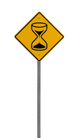 A yellow road warning sign isolated on white. Includes clipping path. 版權商用圖片 - 17924648