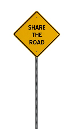 A yellow road warning sign isolated on white. Includes clipping path. 版權商用圖片