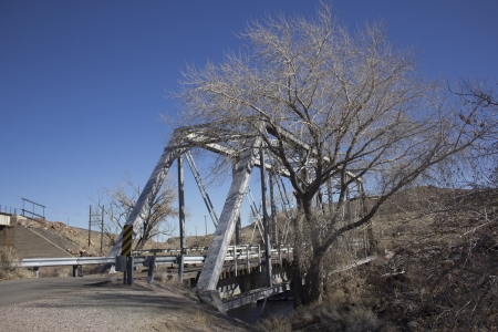 an old steel bridge from teh early 1900s or late 1800s