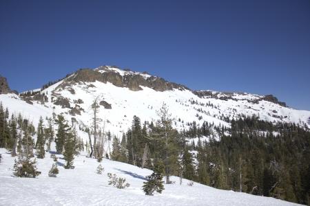 The Sierra Nevadas in the winter at Castle peak. 版權商用圖片 - 18144393