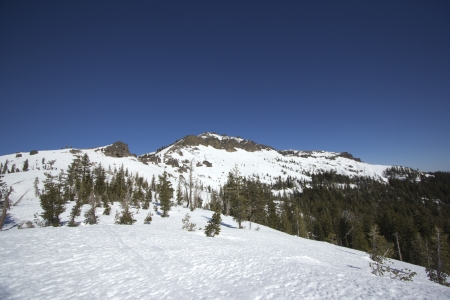 The Sierra Nevadas in the winter at Castle peak.