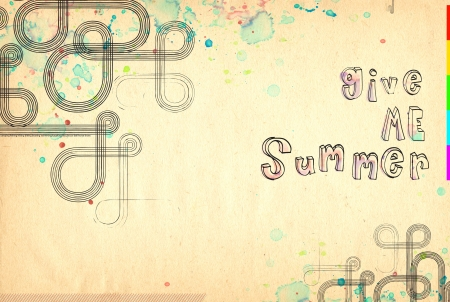 A hand drawn texture. Give me summer!