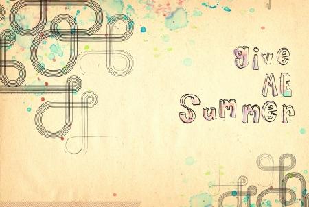 A hand drawn texture. Give me summer! 版權商用圖片 - 19447175