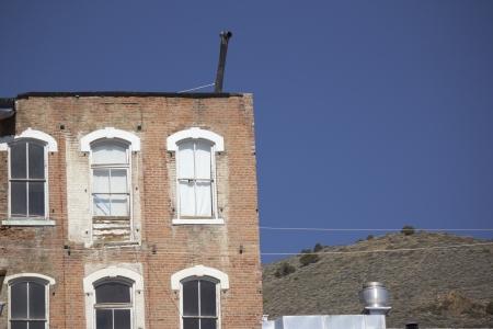 Old Brick Building in Virginia City Nevada 版權商用圖片