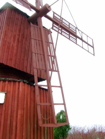 bygone: Windmill from by-gone days. Sails 4-arm vanes