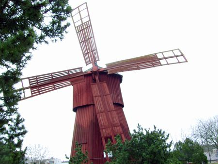 bygone days: Windmill from by-gone days. Sails 4-arm vanes