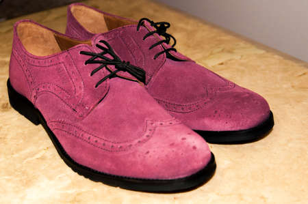 handmade wild leather business shoes photo