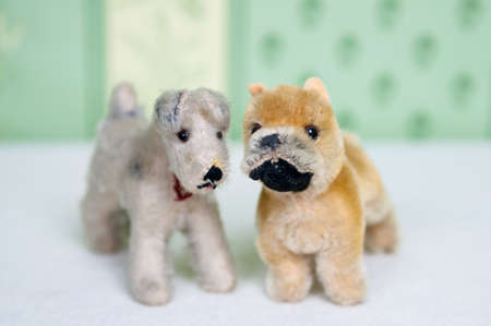 plushie: Two plushie dogs standing next to each other