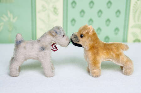kiddie: Two plushie dogs standing next to each other