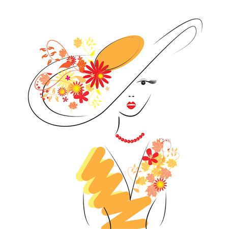 Belle dame en costume à la mode Banque d'images - 23120894