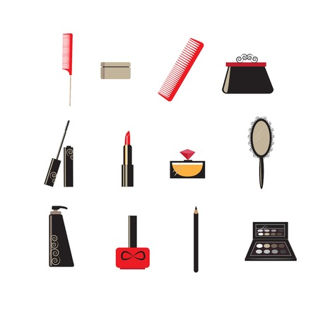 hand mirror: Make up and beauty icons for your design