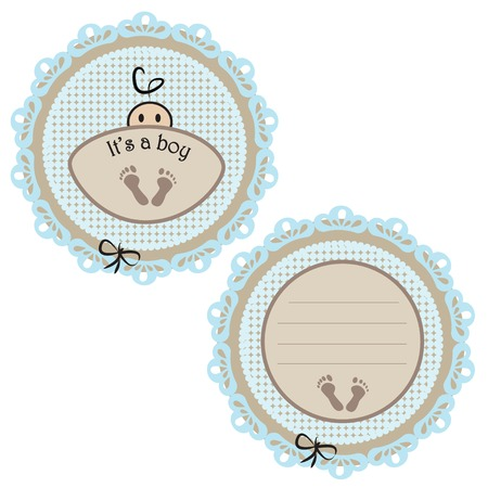 its: Baby card - Its a boy theme with a baby boy