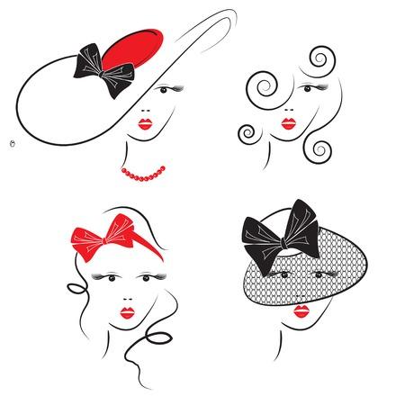 f�minit�: Les styles de cheveux de la femme avec des chapeaux