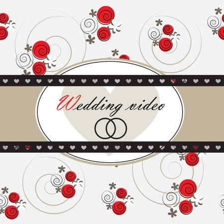 Wedding video background. Part of a set. Vector