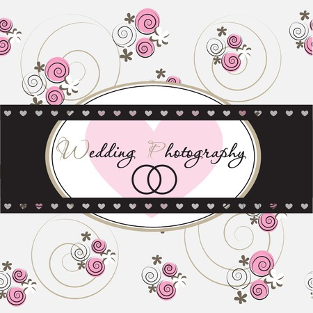 Wedding card design Part of a set. Vector