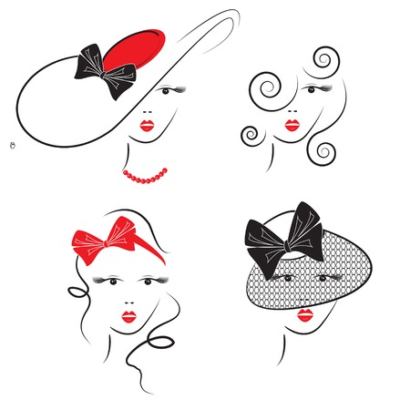 Womans hair styles with hats photo
