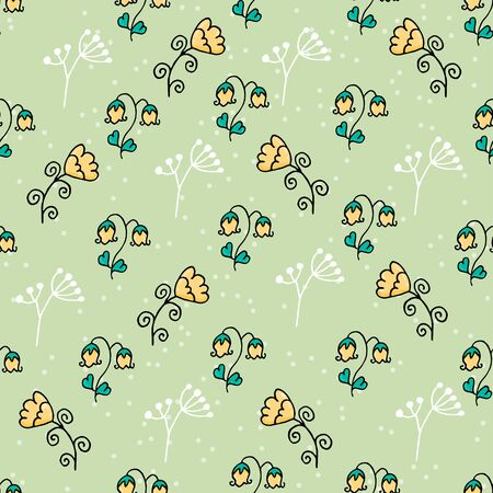 Cute floral seamless pattern with spots. Part of autumn set. Banque d'images - 131444869