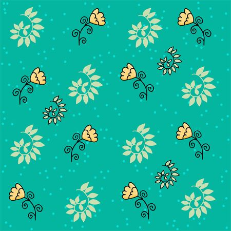 Cute floral seamless pattern with spots. Part of autumn set. Banque d'images - 131444871