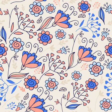 Elegant seamless pattern with flowers. Floral pattern for fabric and prints. Perfect for room decor.