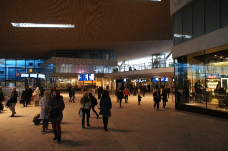 public transfer: New train station Rotterdam Centraal