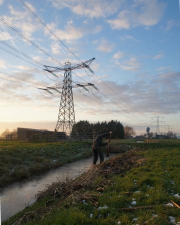 boer: Boer en Hollandse de p�lder Foto de archivo