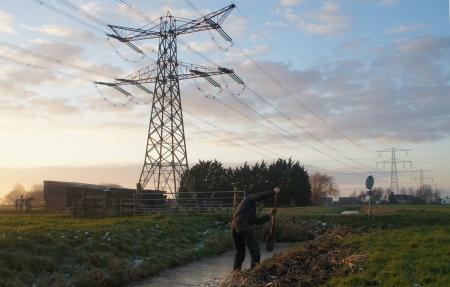 Boer in de Hollandse polder