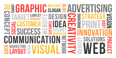 Communication and marketing - word cloud 版權商用圖片 - 119775525
