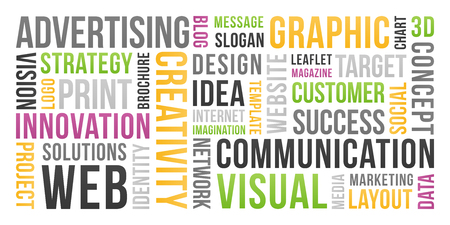 Communication and marketing - word cloud
