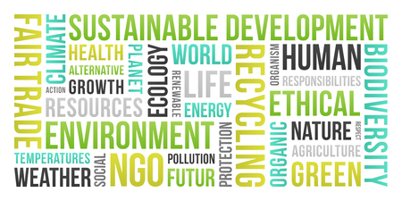 Ecology, Environment, Sustainable Development - Word Cloud Stock fotó