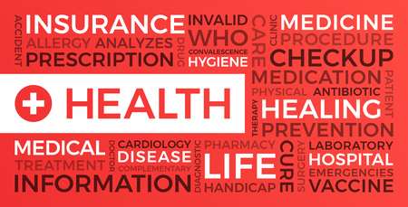 Health, insurance, medical - Word Cloud